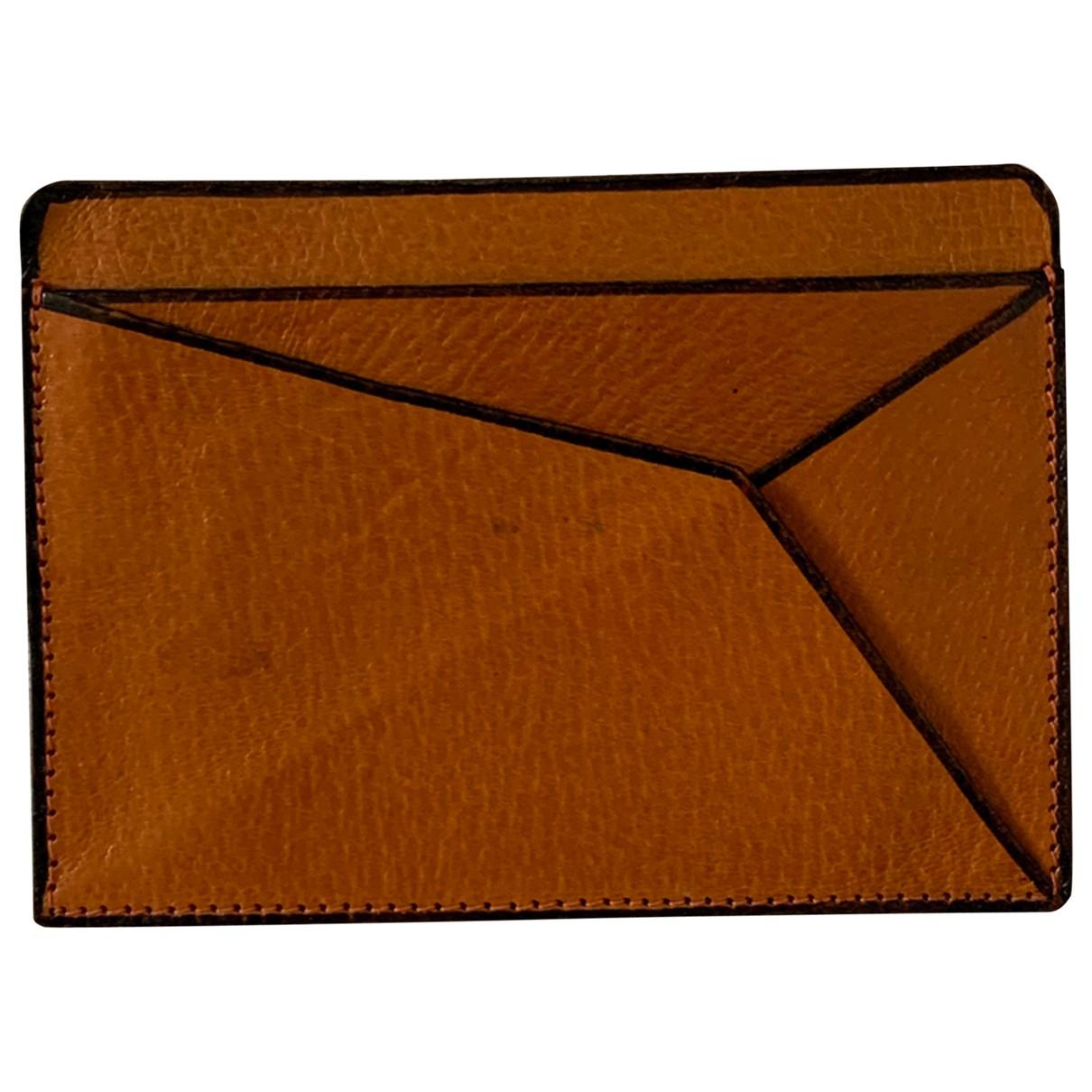 - Petite maroquinerie   pour homme en cuir - orange