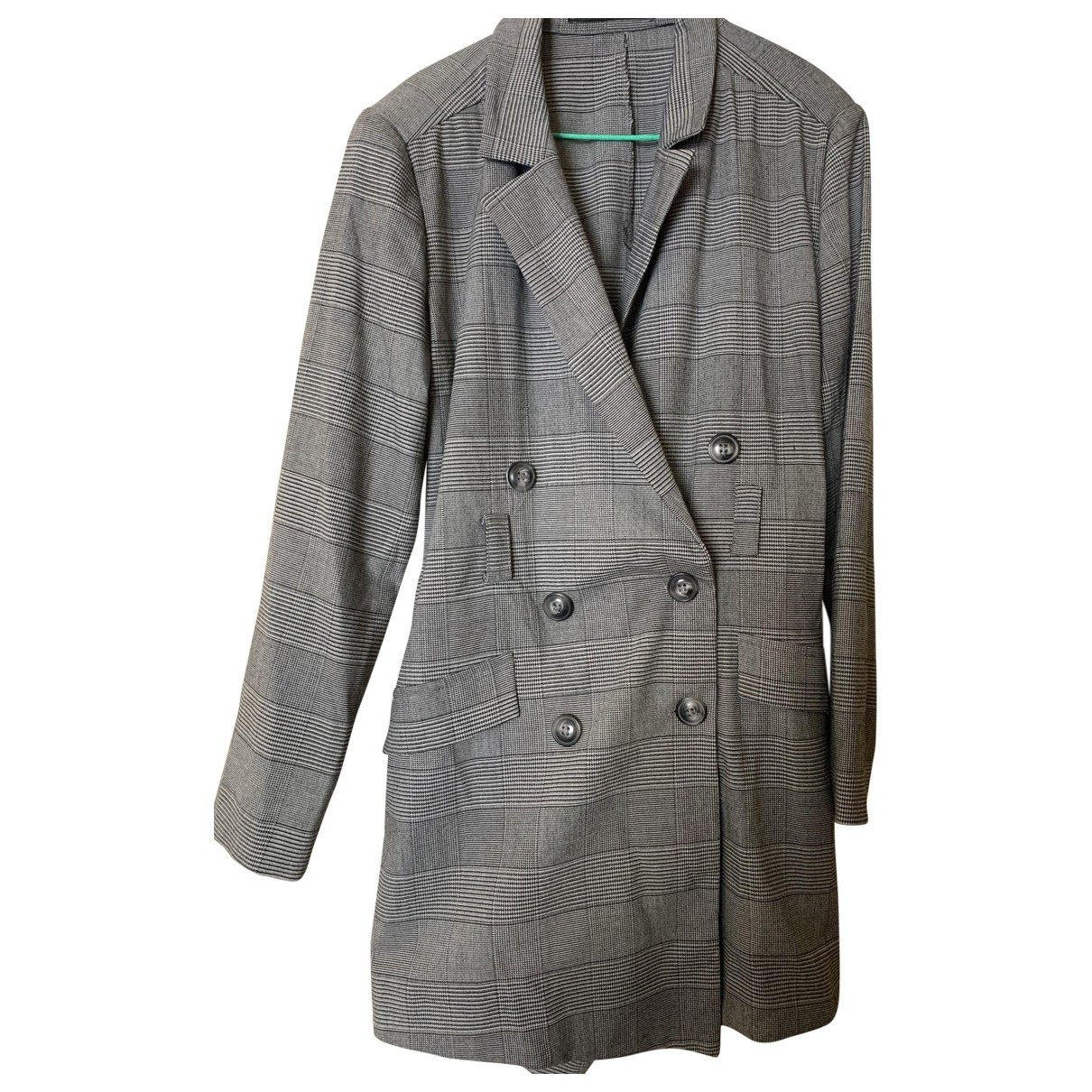 Zara - Robe   pour femme en coton - gris