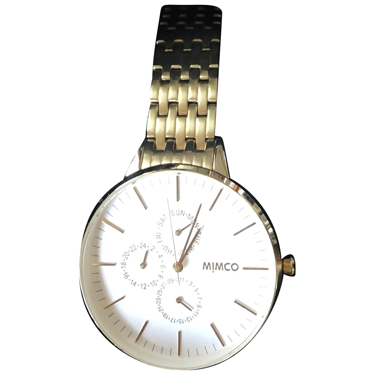 Mimco \N Uhr in  Gold Stahl