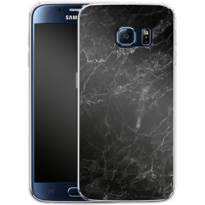 Samsung Galaxy S6 Silikon Handyhuelle - Midnight Marble von caseable Designs