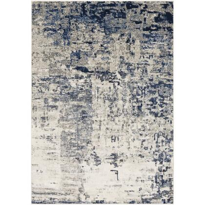 Lagom LGM-2304 710 x 102 Rectangle Modern Rug in Navy  Pale Blue  Charcoal  Light Gray
