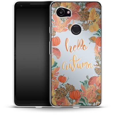 Google Pixel 2 XL Silikon Handyhuelle - Hello Autumn von Mukta Lata Barua