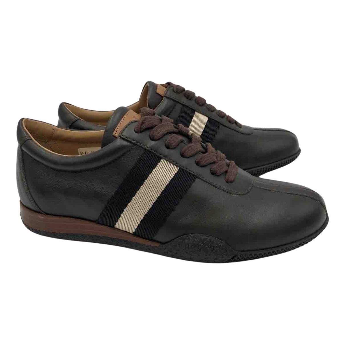 Bally \N Sneakers in  Braun Leder