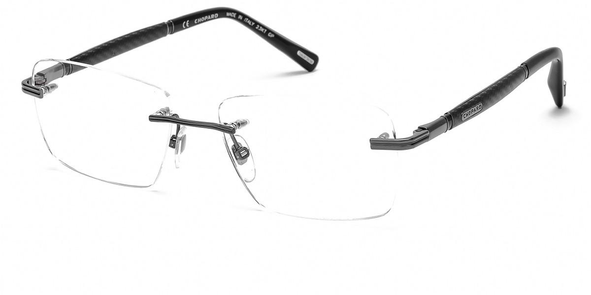 Chopard VCHC37 0K56 Men's Glasses Grey Size 56 - Free Lenses - HSA/FSA Insurance - Blue Light Block Available
