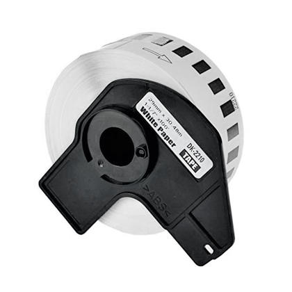 Compatible Brother DK-2210 Continuous Label Tape,1.1 x 100 (29mm x 30.4m), Black on White, - 1 Roll