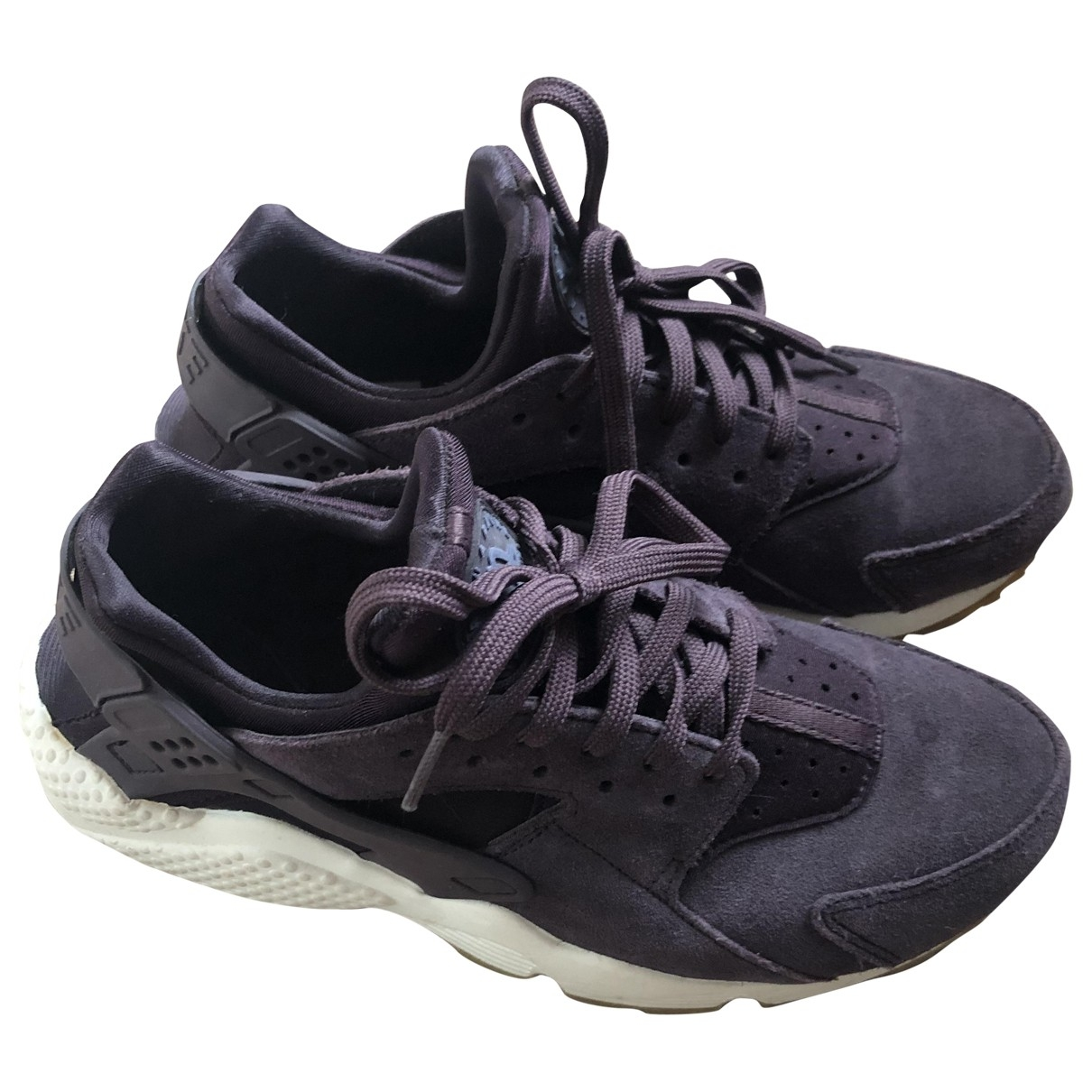 Nike Huarache Purple Rubber Trainers for Women 40.5 EU