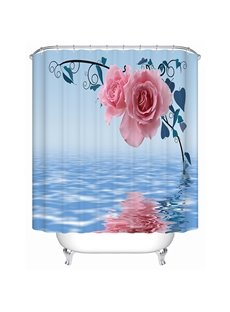 Modern Faddish Beautiful Pink Roses 3D Shower Curtain