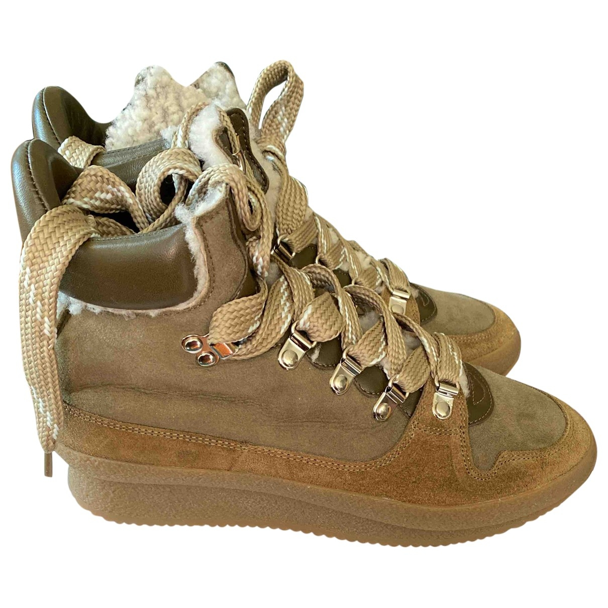 Isabel Marant - Boots   pour femme en suede - kaki
