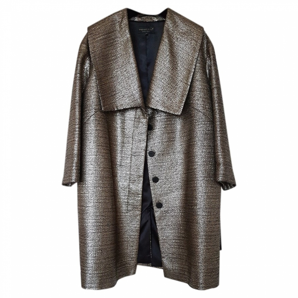 Non Signé / Unsigned \N Gold coat for Women 16 UK
