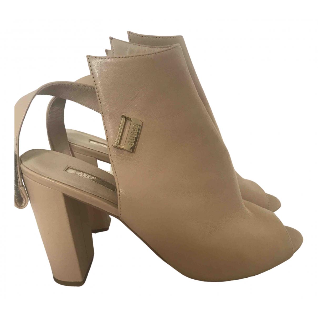 Guess \N Beige Leather Heels for Women 40 EU