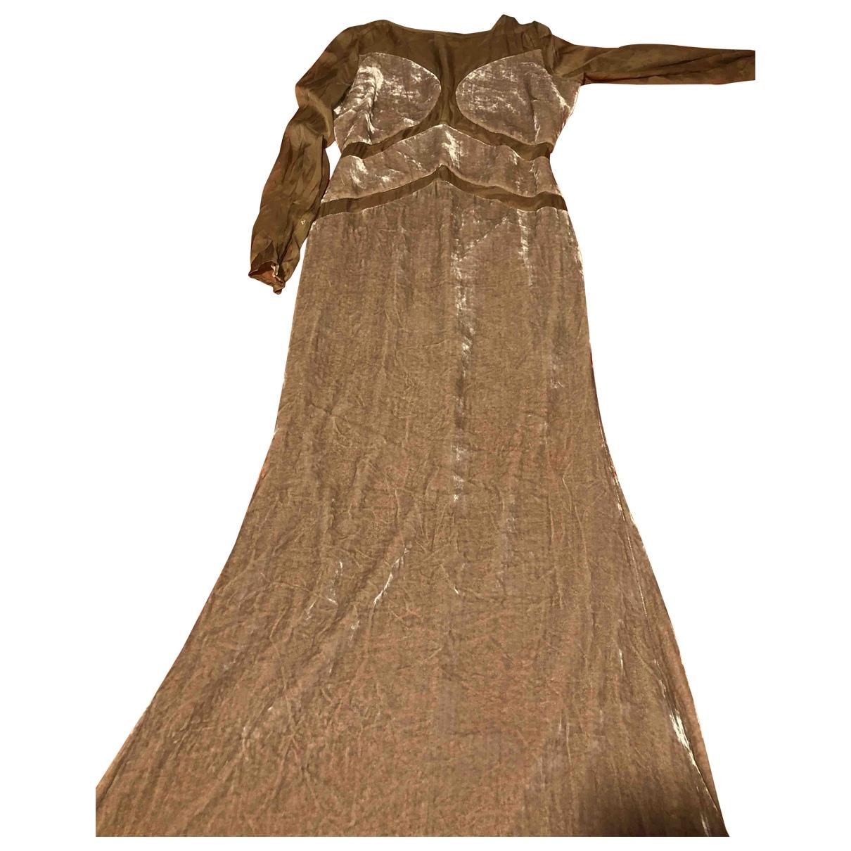 Maxi vestido de Terciopelo Elisabetta Franchi