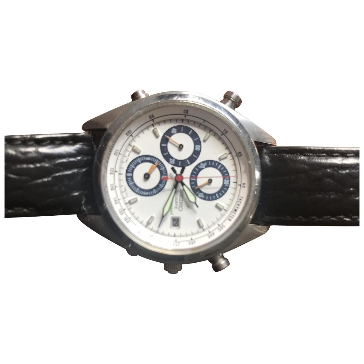 Seiko \N Uhr in  Weiss Stahl
