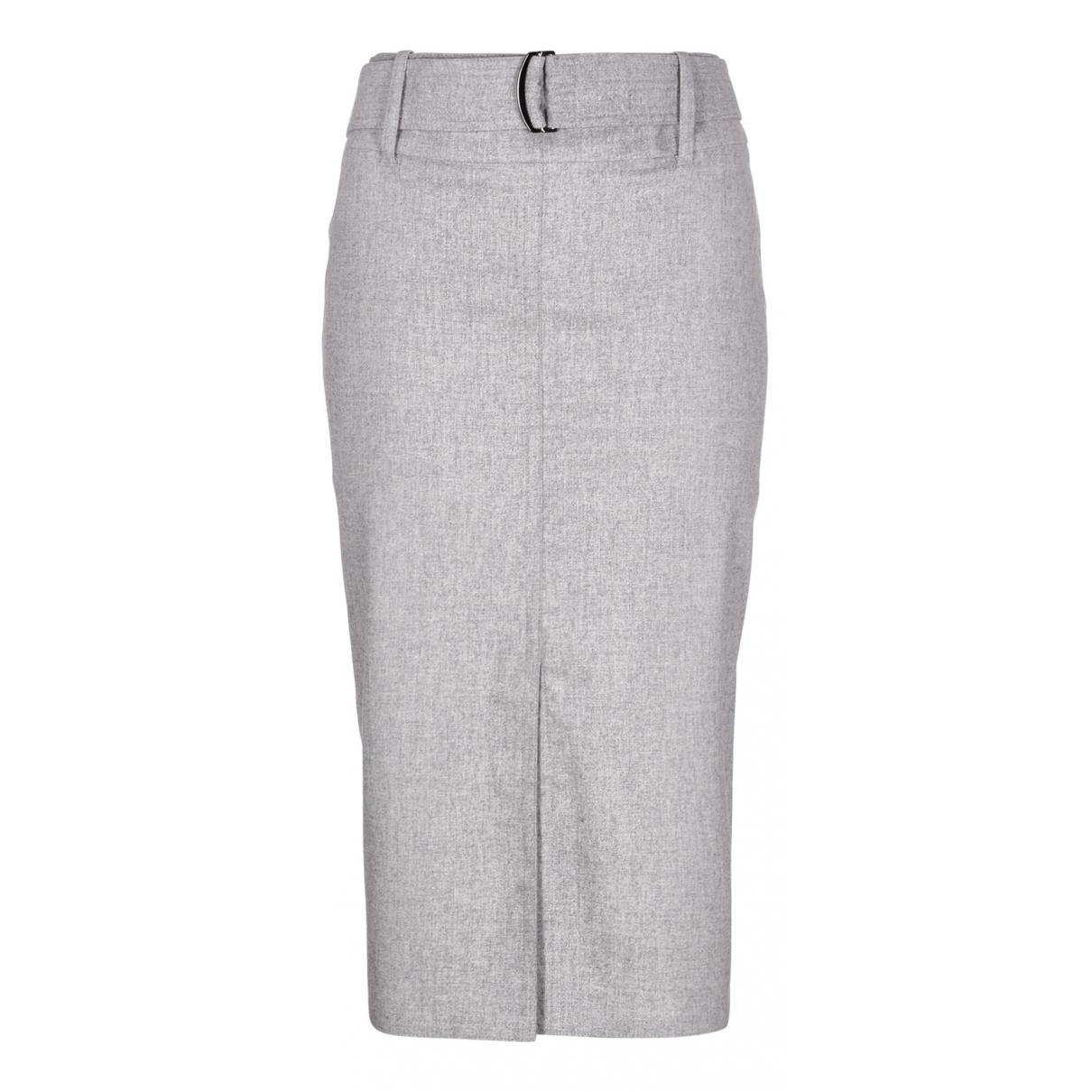 Max Mara - Jupe   pour femme en laine - gris