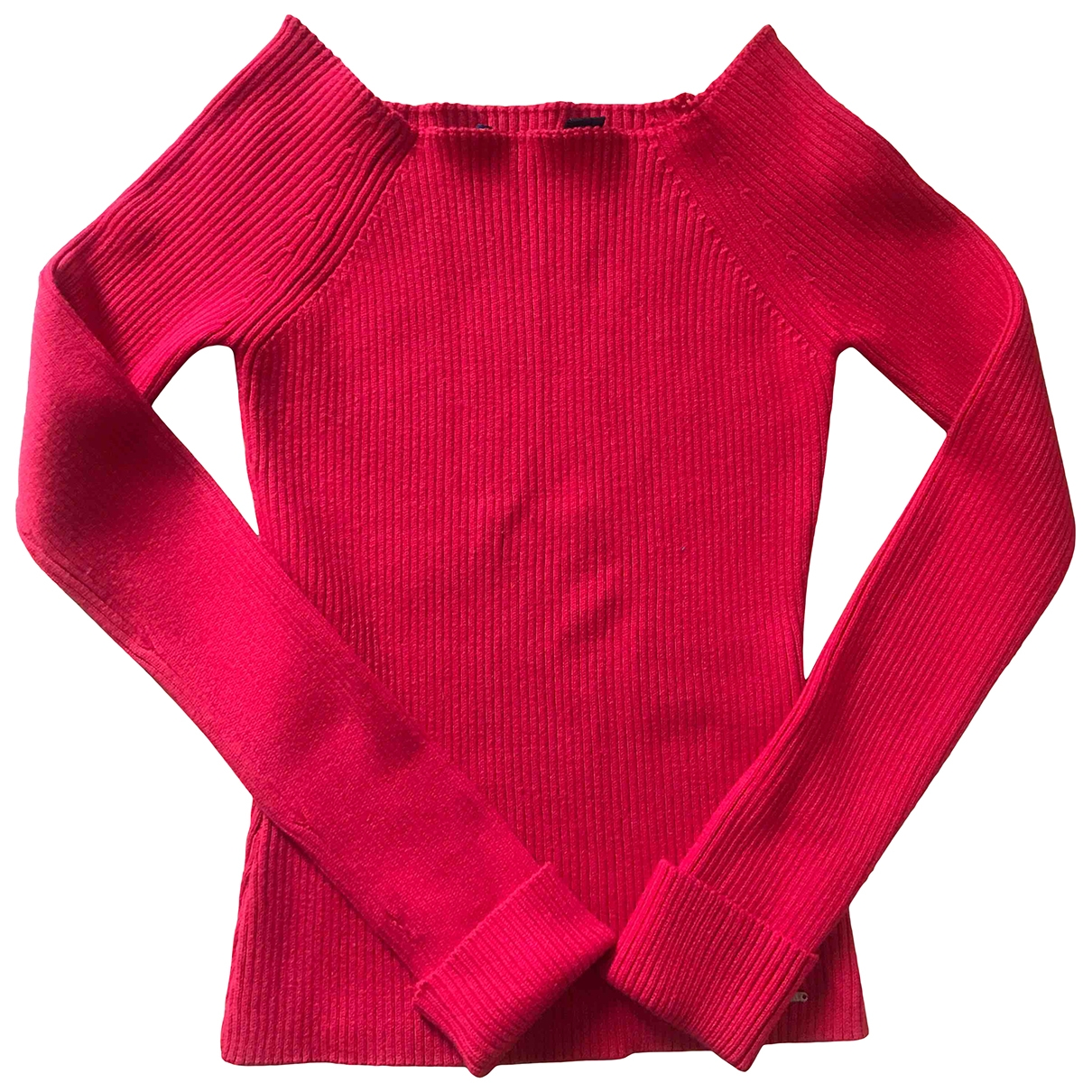 Non Signe / Unsigned \N Pullover in  Rot Baumwolle