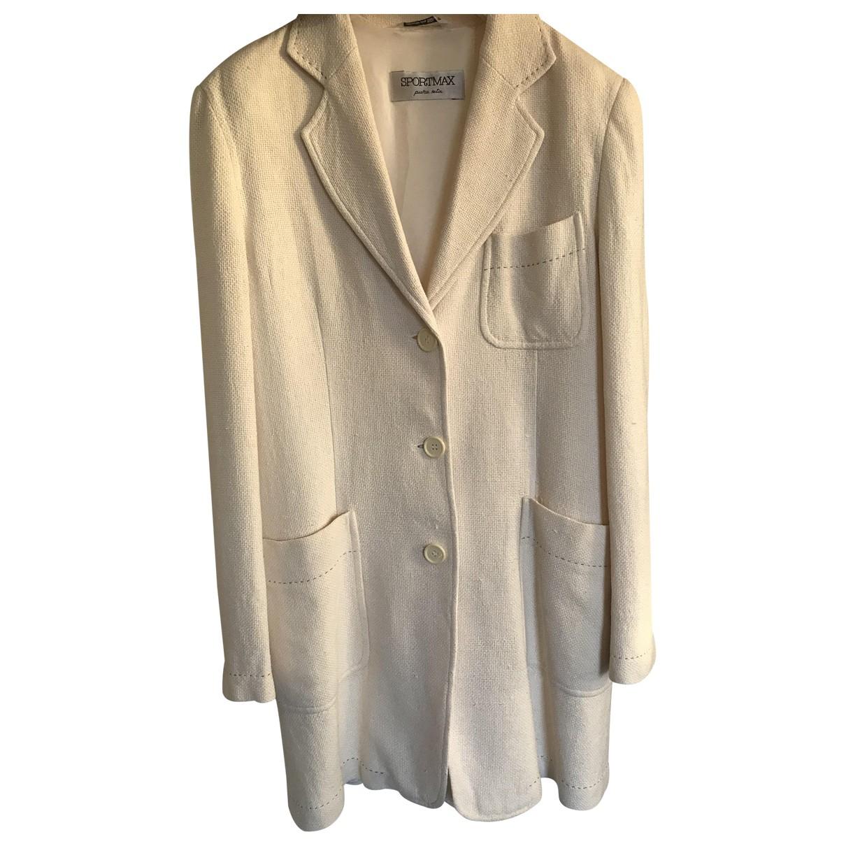 Sport Max - Veste   pour femme en soie - beige