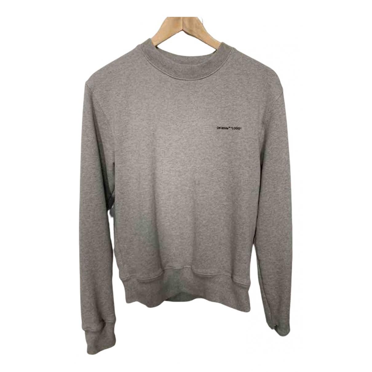 Off-white \N Pullover.Westen.Sweatshirts  in  Grau Baumwolle