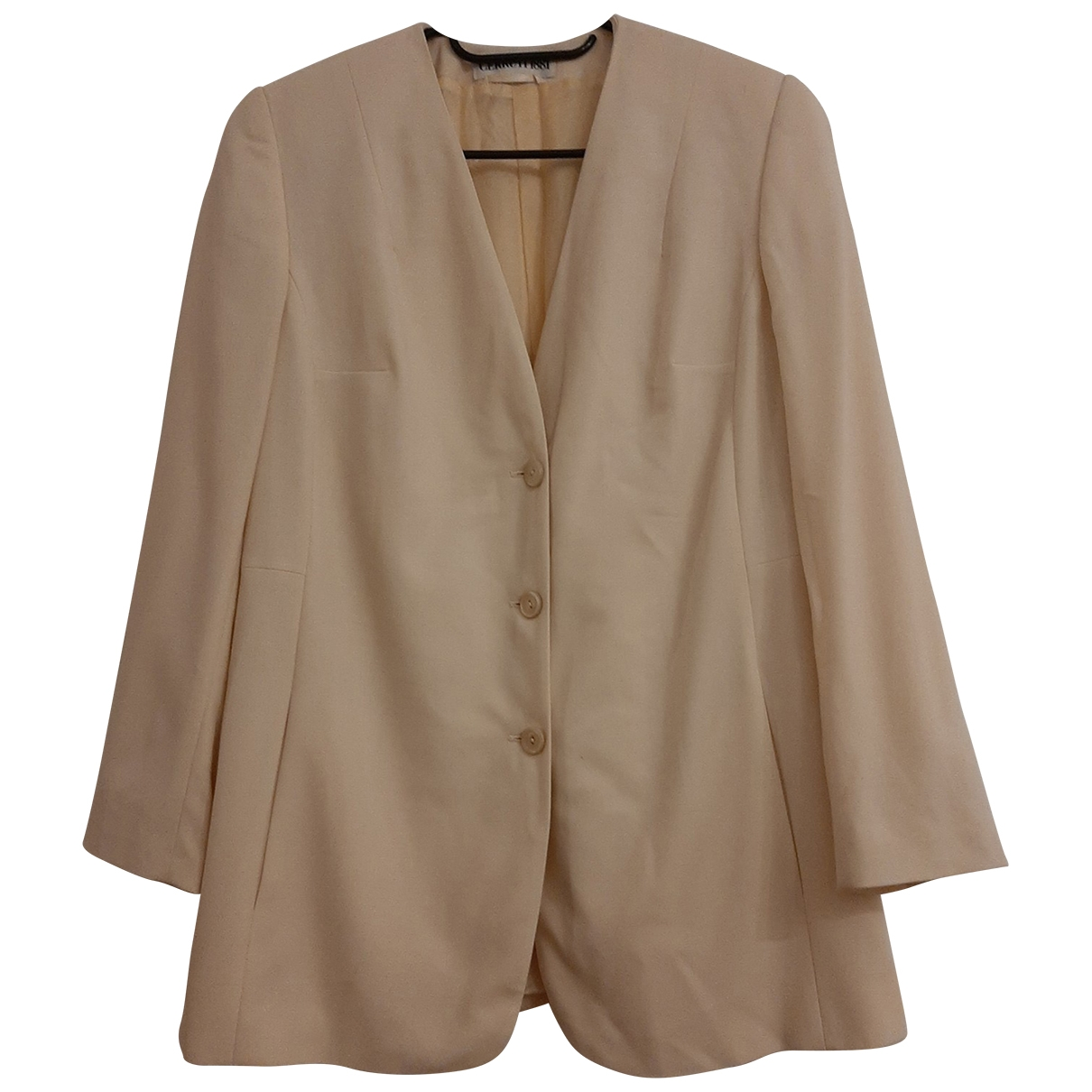 Cerruti - Veste   pour femme en laine - beige