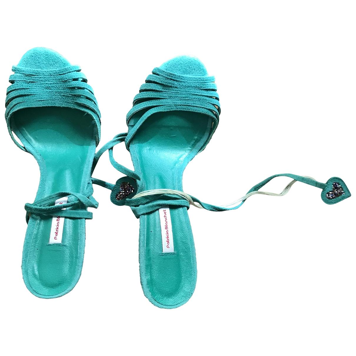 Patricia Blanchet \N Green Leather Heels for Women 38 EU