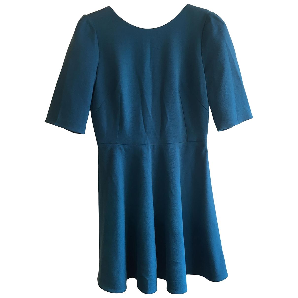 Dolce & Gabbana - Robe   pour femme en laine - bleu