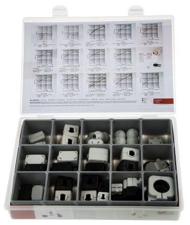 Wurth Elektronik 33 piece Ferrite Design Kit  Includes Snap Ferrite