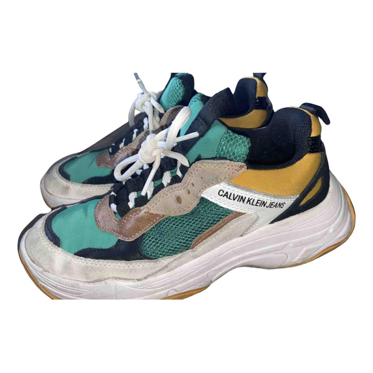 Calvin Klein \N Sneakers in  Gruen Polyester