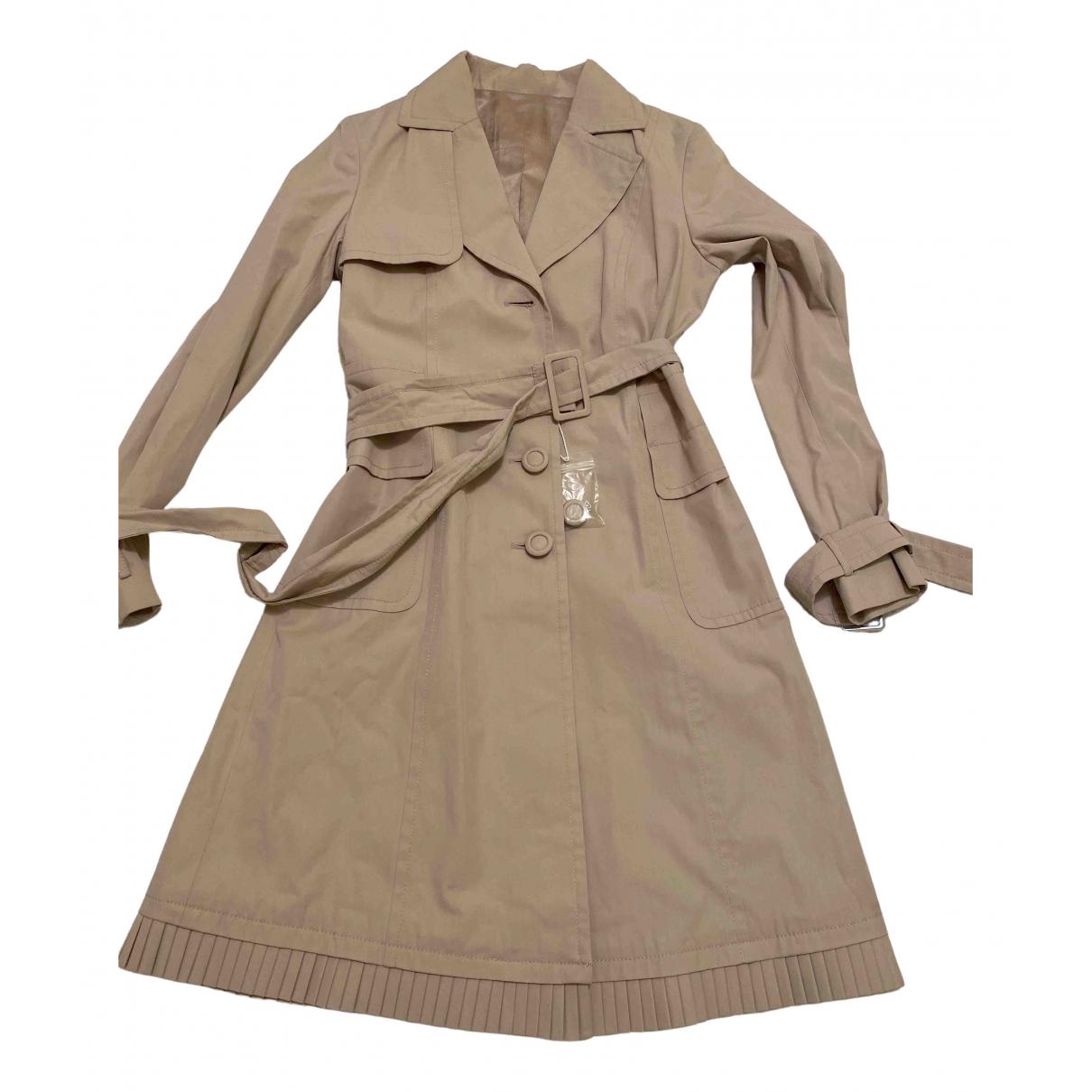 Max Mara - Trench   pour femme en coton - beige