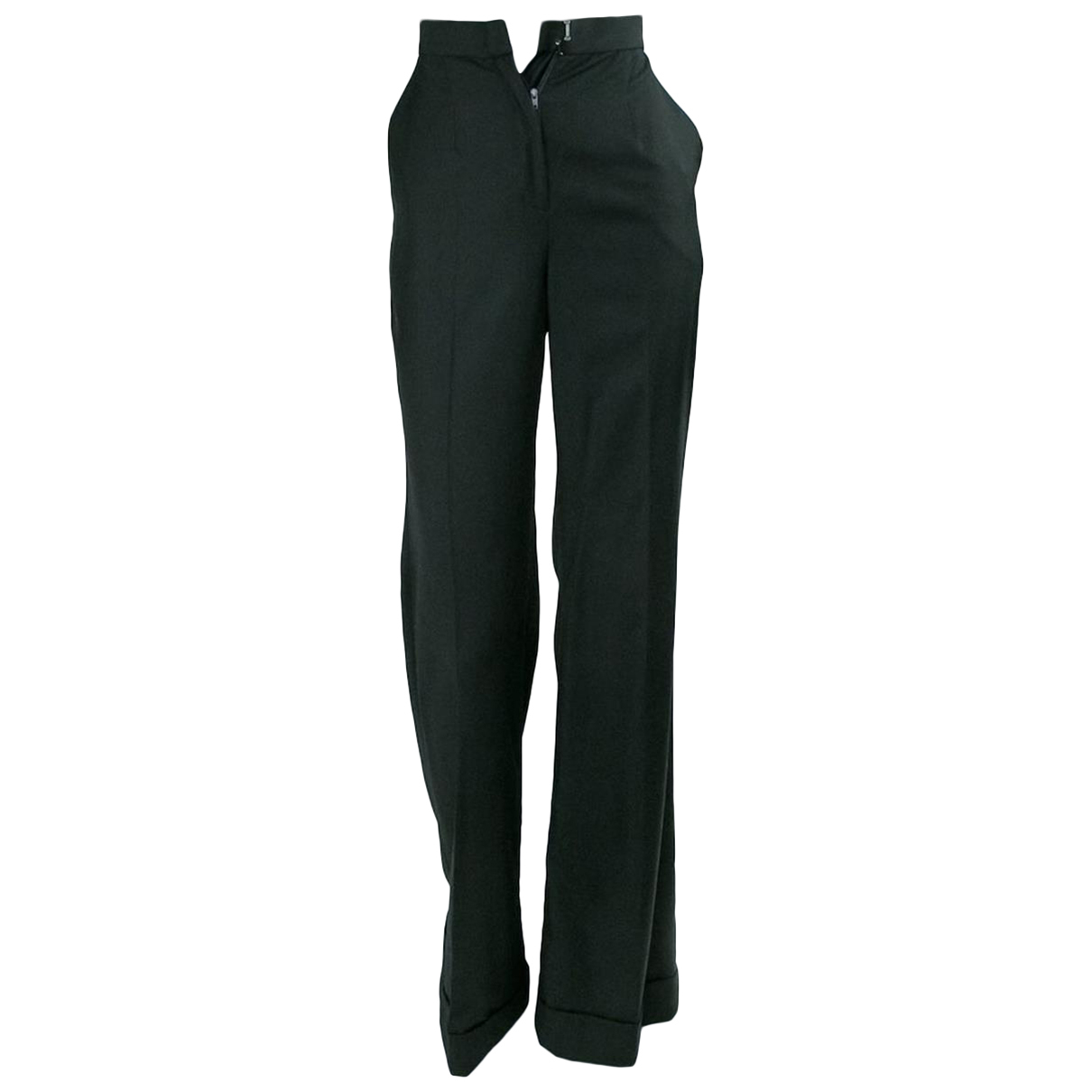 Ulyana Sergeenko N Black Trousers for Women XS International
