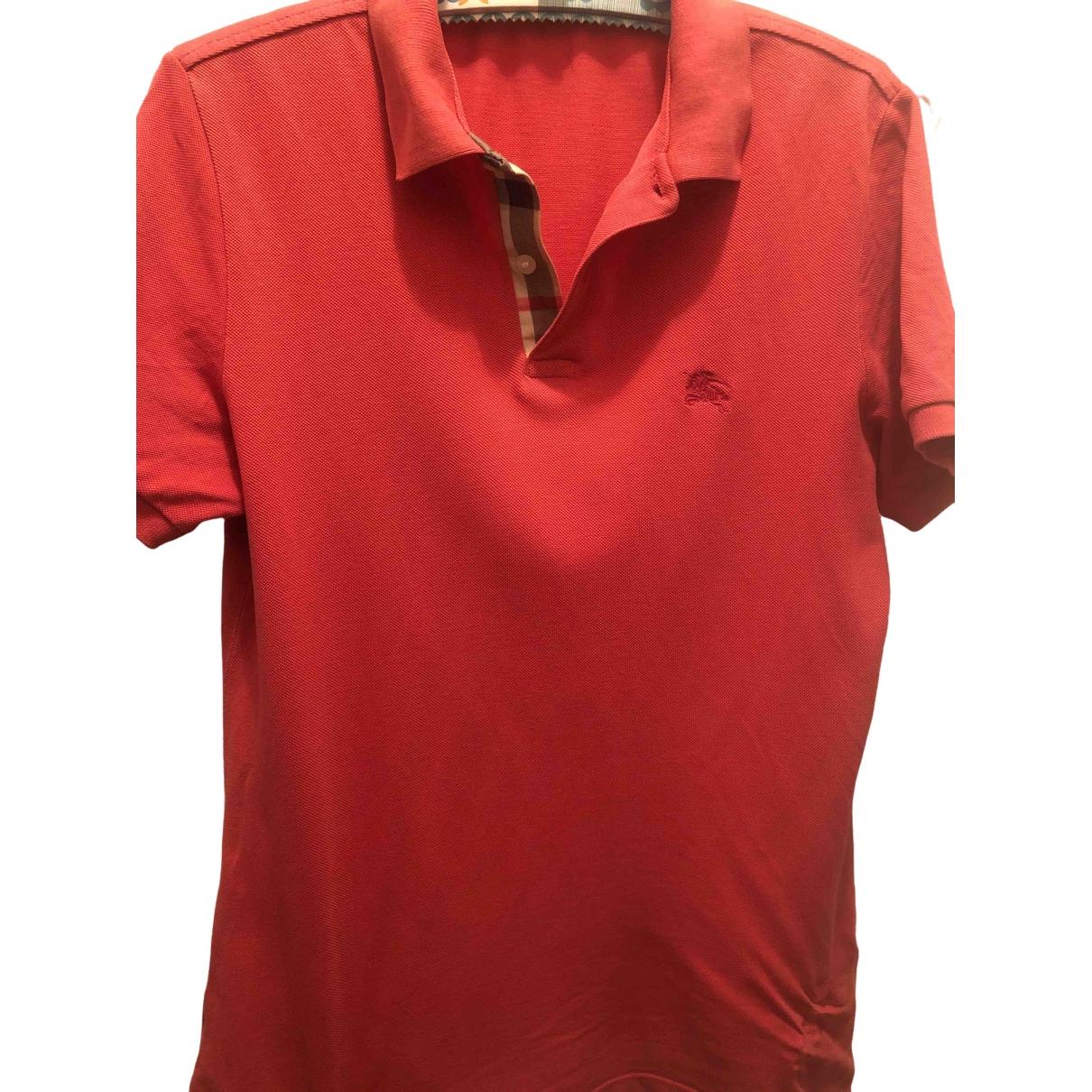 Burberry - Polos   pour homme en coton - rouge