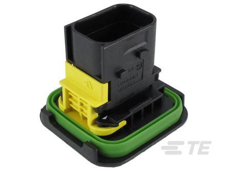 TE Connectivity , HDSCS Automotive Connector Socket 2 Row 8 Way, IP67, IP6K9K, Black (250)