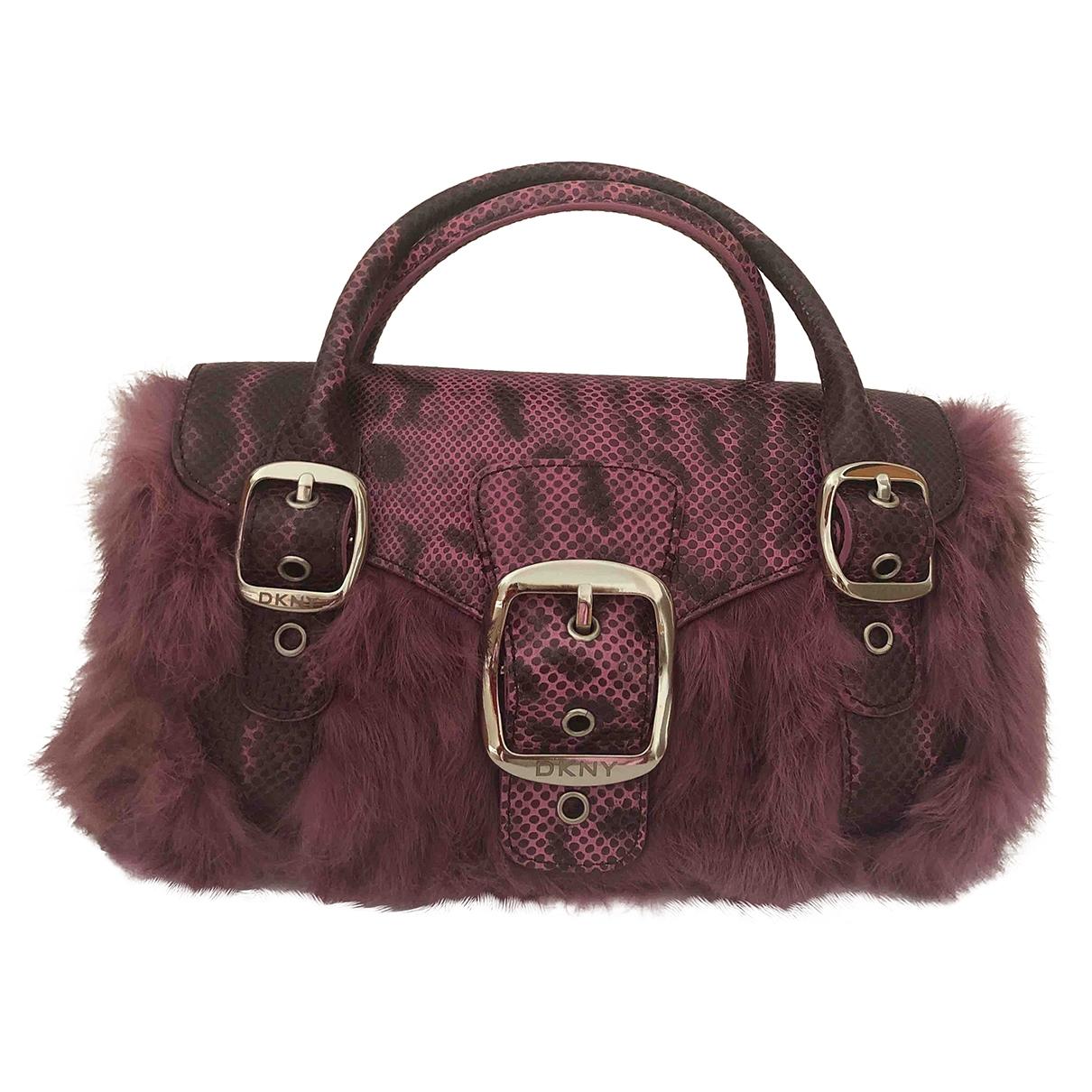 Dkny \N Pink Faux fur handbag for Women \N