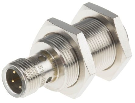 BALLUFF M18 x 1 Inductive Sensor - Barrel, PNP-NO Output, 8 mm Detection, IP67, M12 - 4 Pin Terminal