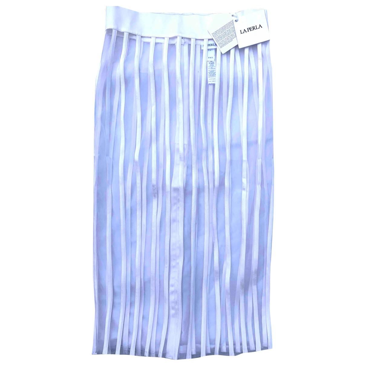 La Perla - Jupe   pour femme en soie - blanc