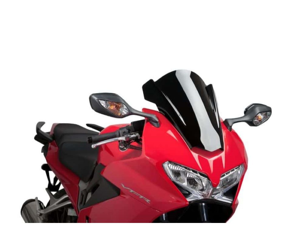 Puig 7598N Z-Racing Windscreen - Black Honda VFR800F Interceptor 2014