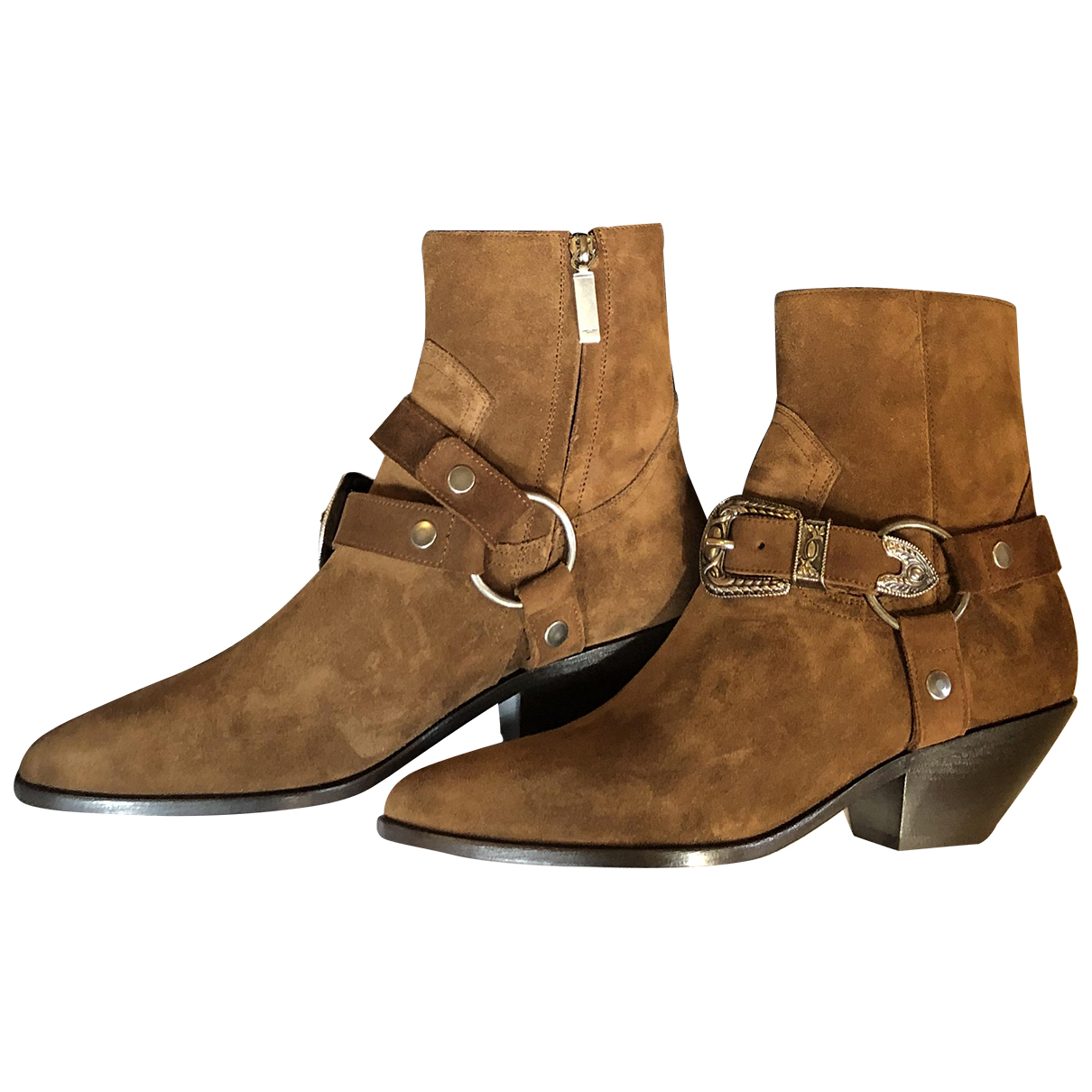Saint Laurent N Brown Leather Ankle boots for Women 39 EU