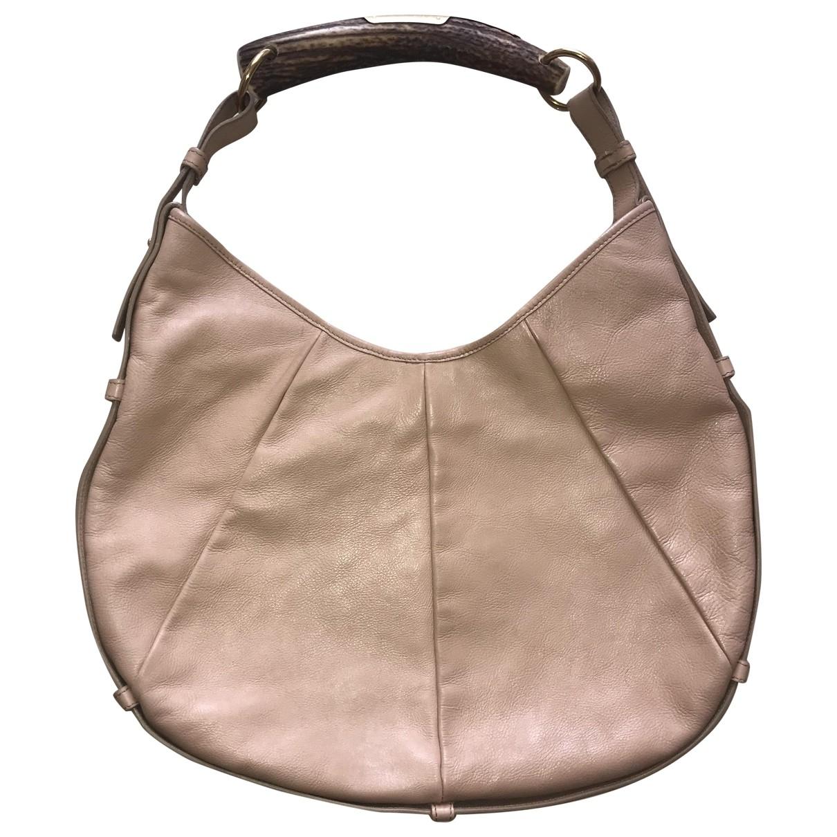 Yves Saint Laurent Mombasa Pink Leather handbag for Women \N