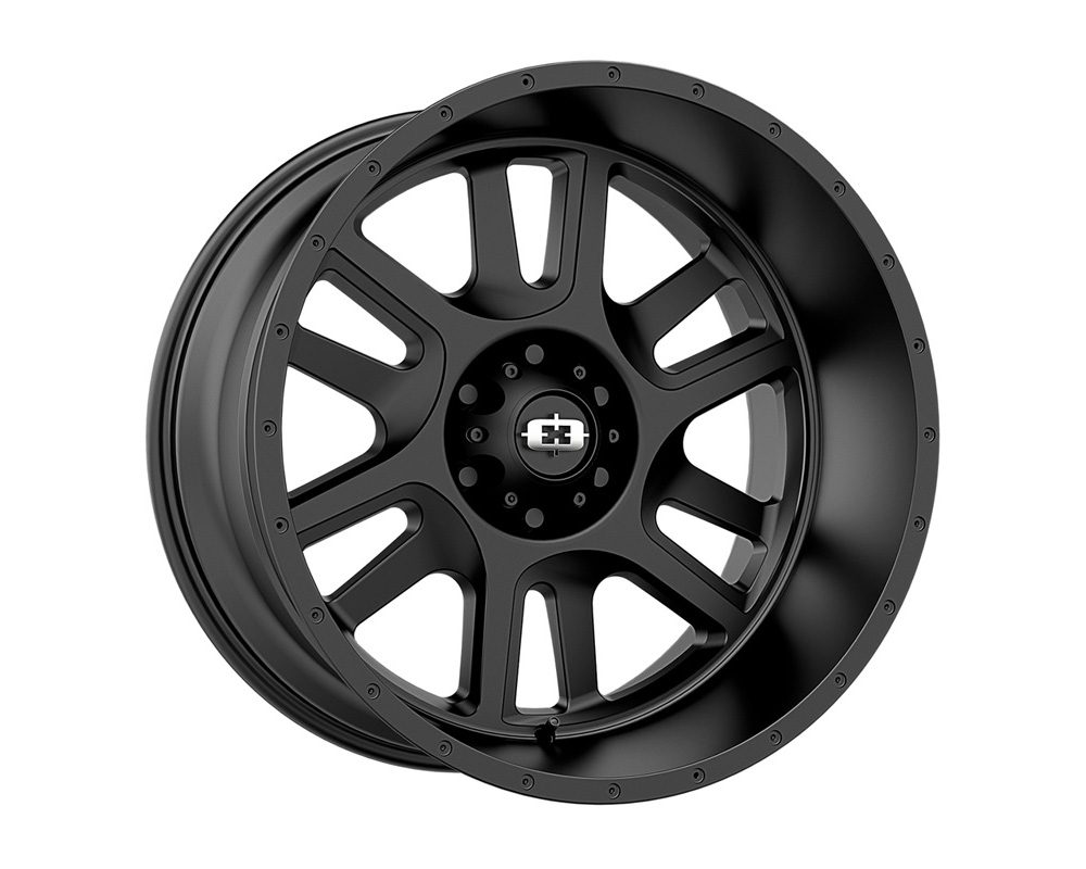 Vision Split Satin Black Wheel 17x9 5x127 12