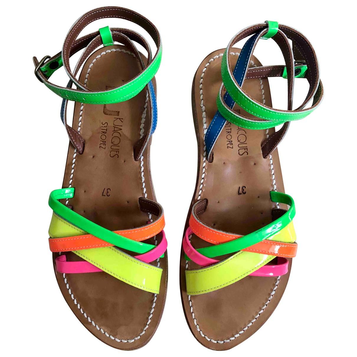 K Jacques \N Multicolour Patent leather Sandals for Women 37 EU