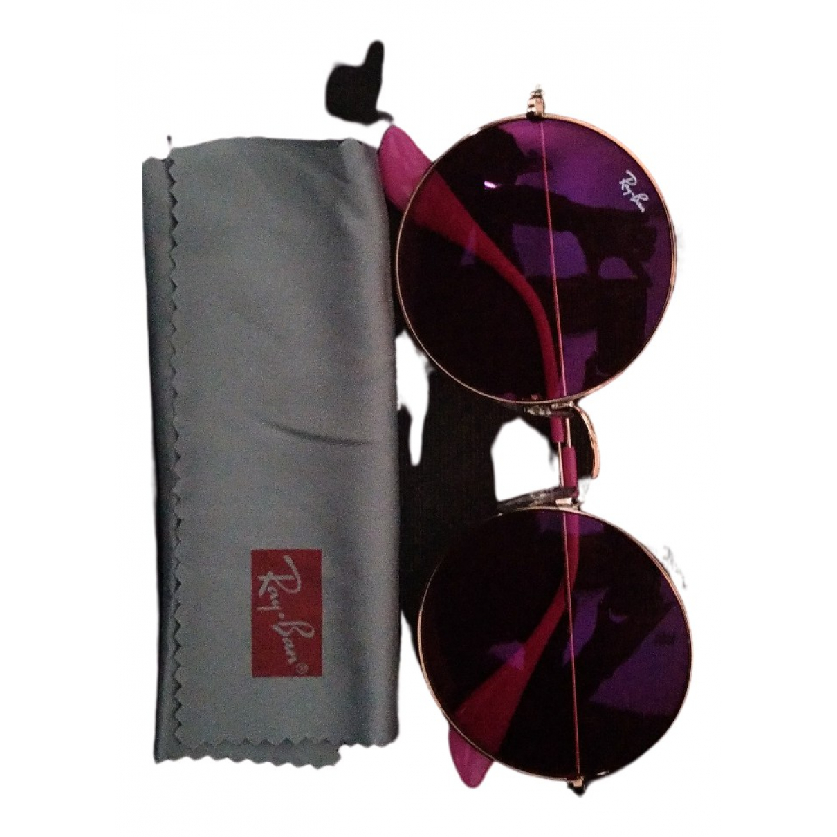 Ray-ban Round Pink Metal Sunglasses for Women N