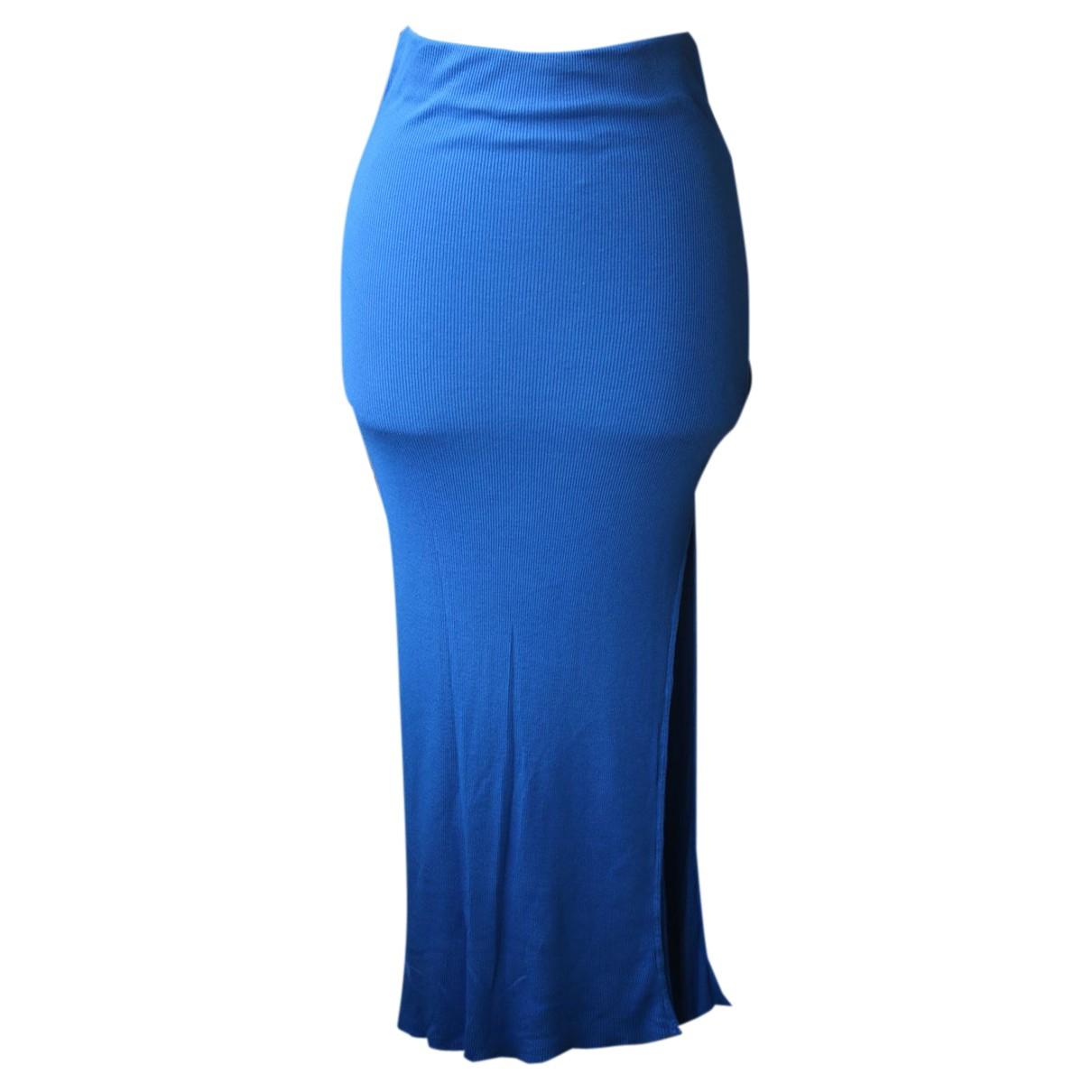 Cotton Citizen - Jupe   pour femme en coton - bleu
