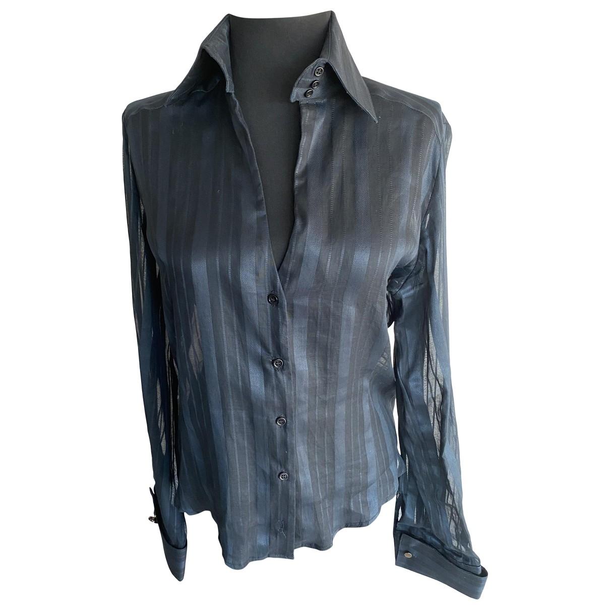 Les Hommes \N Black Silk  top for Women M International