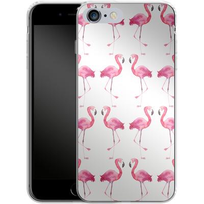 Apple iPhone 6s Plus Silikon Handyhuelle - Flamingo Print von Becky Starsmore