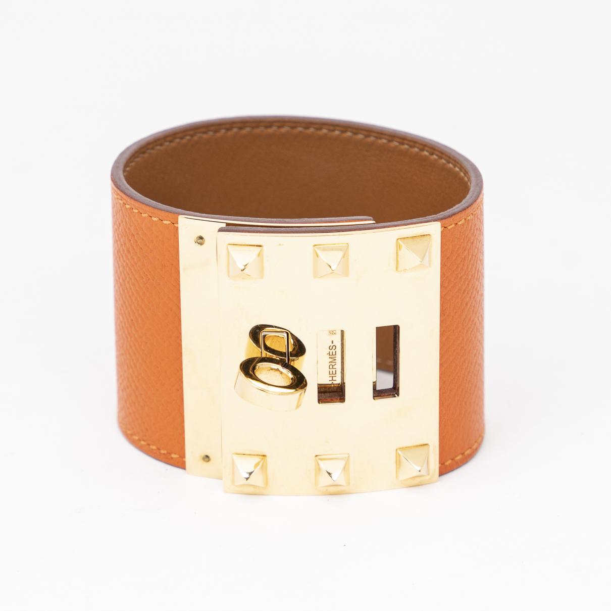 Hermes - Bracelet Kelly pour femme en cuir
