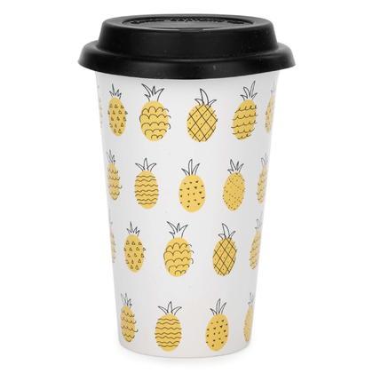Travel Mug with Pineapple Motif 3.5X6