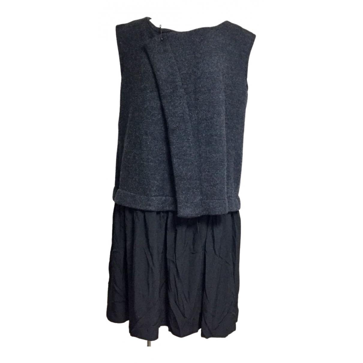 Yohji Yamamoto \N Kleid in  Grau Wolle