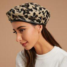Flauschige Barette mit Leopard Muster