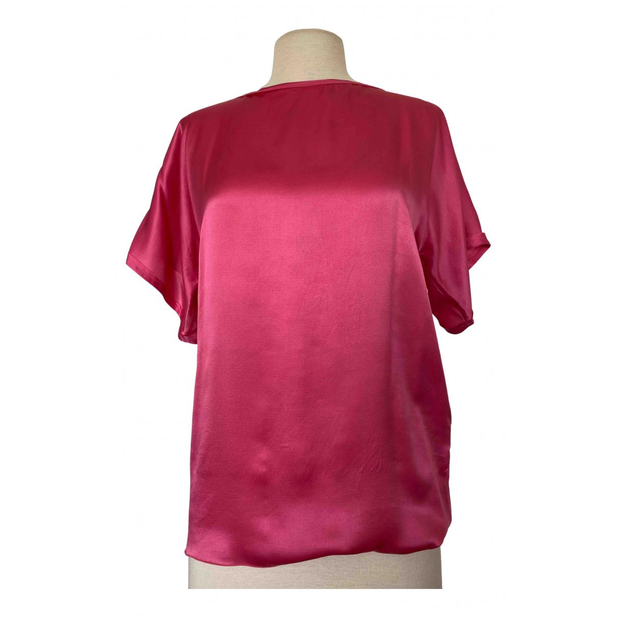Lanvin - Top   pour femme en soie - rose