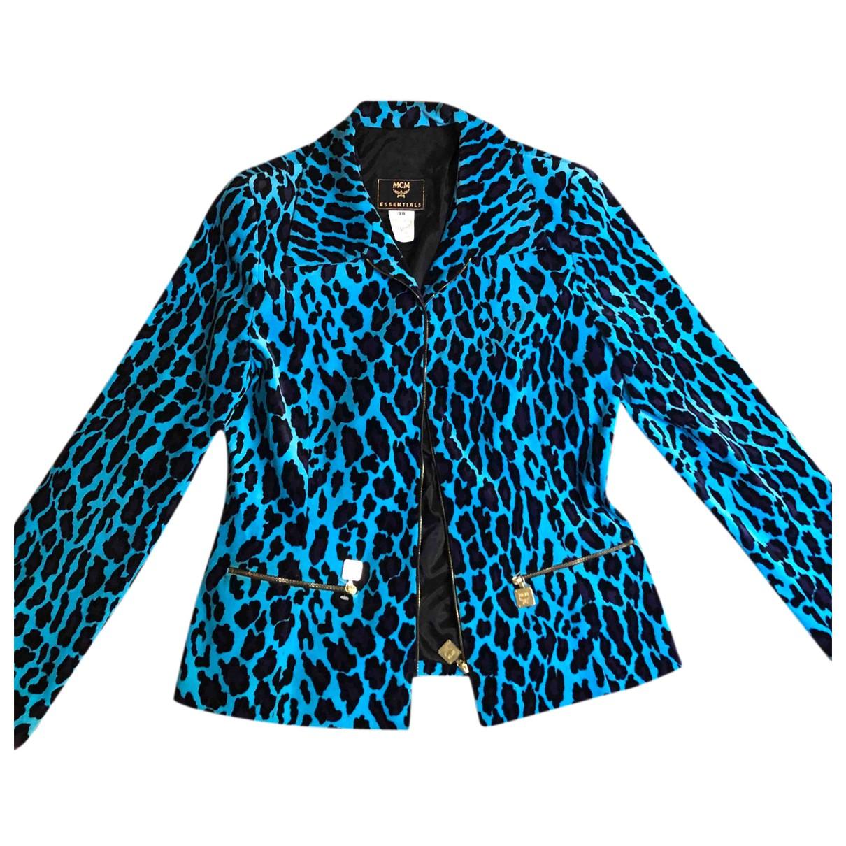 Mcm - Veste   pour femme en coton - bleu