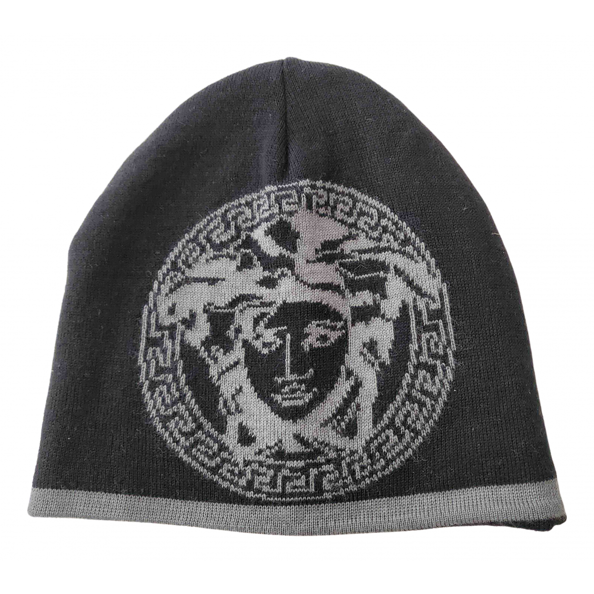 Versace N Black Cotton hat & pull on hat for Men S International