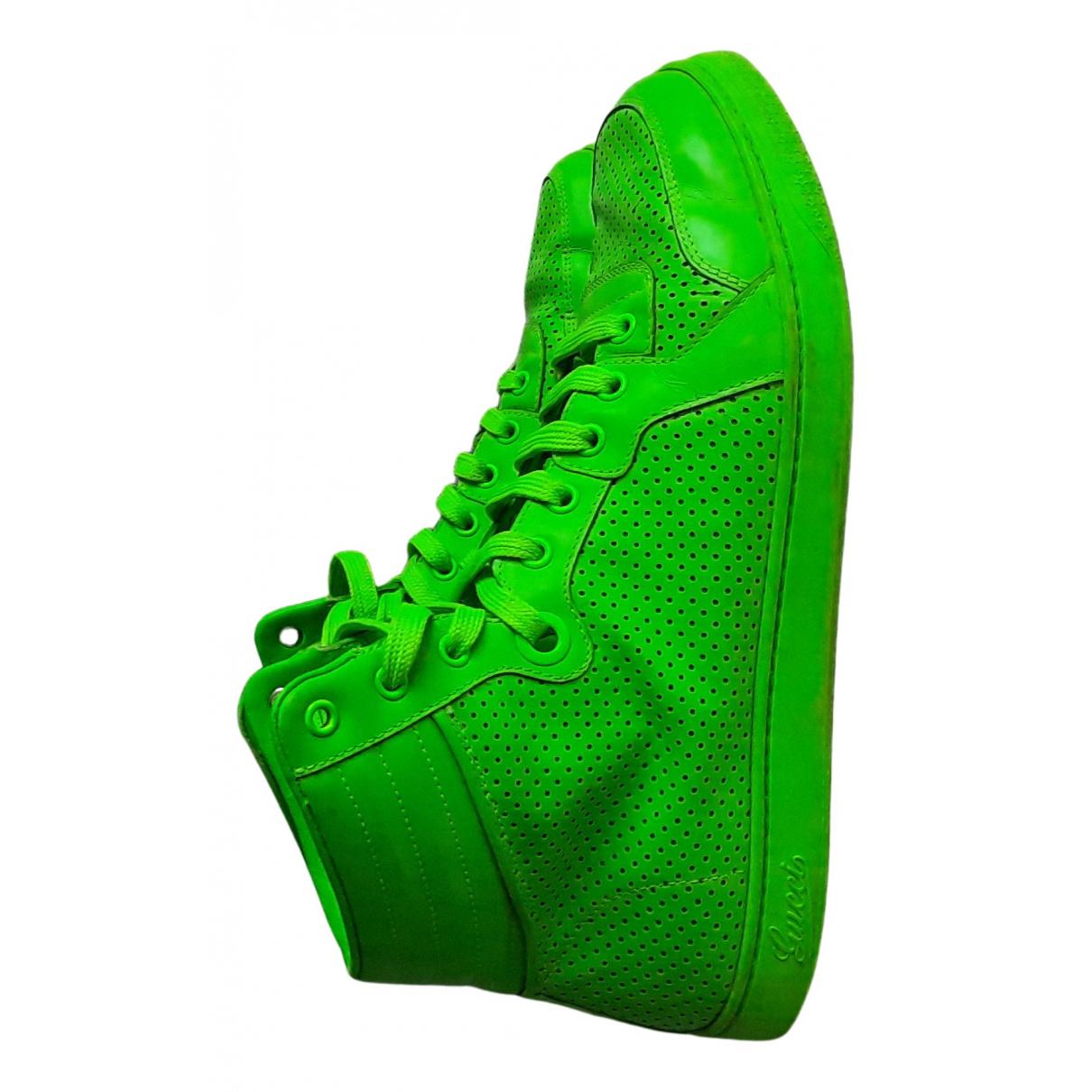 Gucci - Baskets Gucci Dapper Dan pour homme en cuir - vert