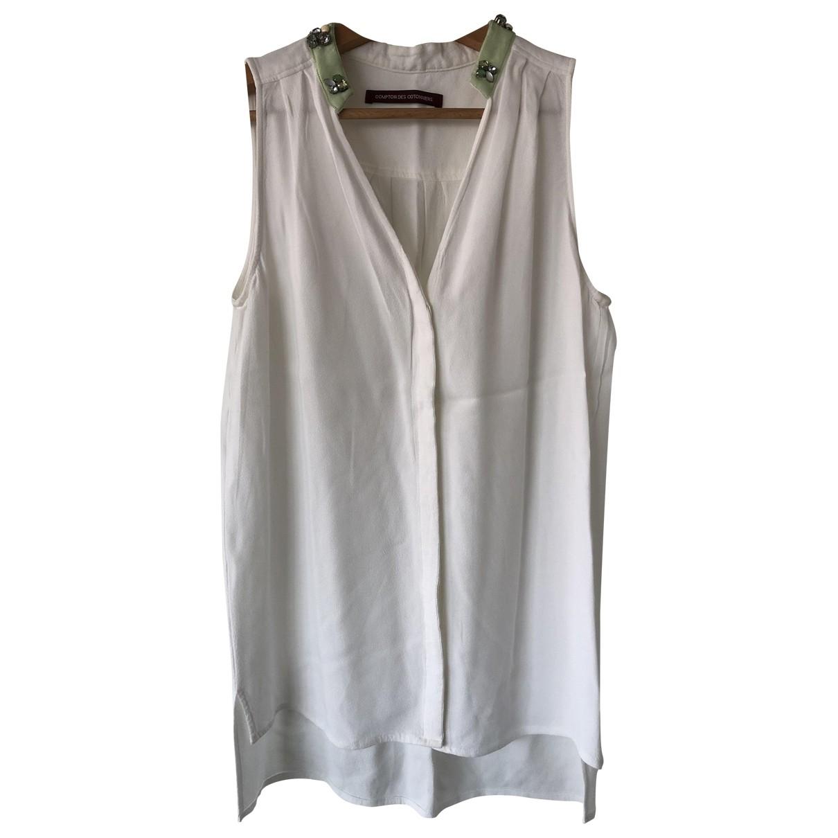 Comptoir Des Cotonniers \N White Silk  top for Women 38 FR